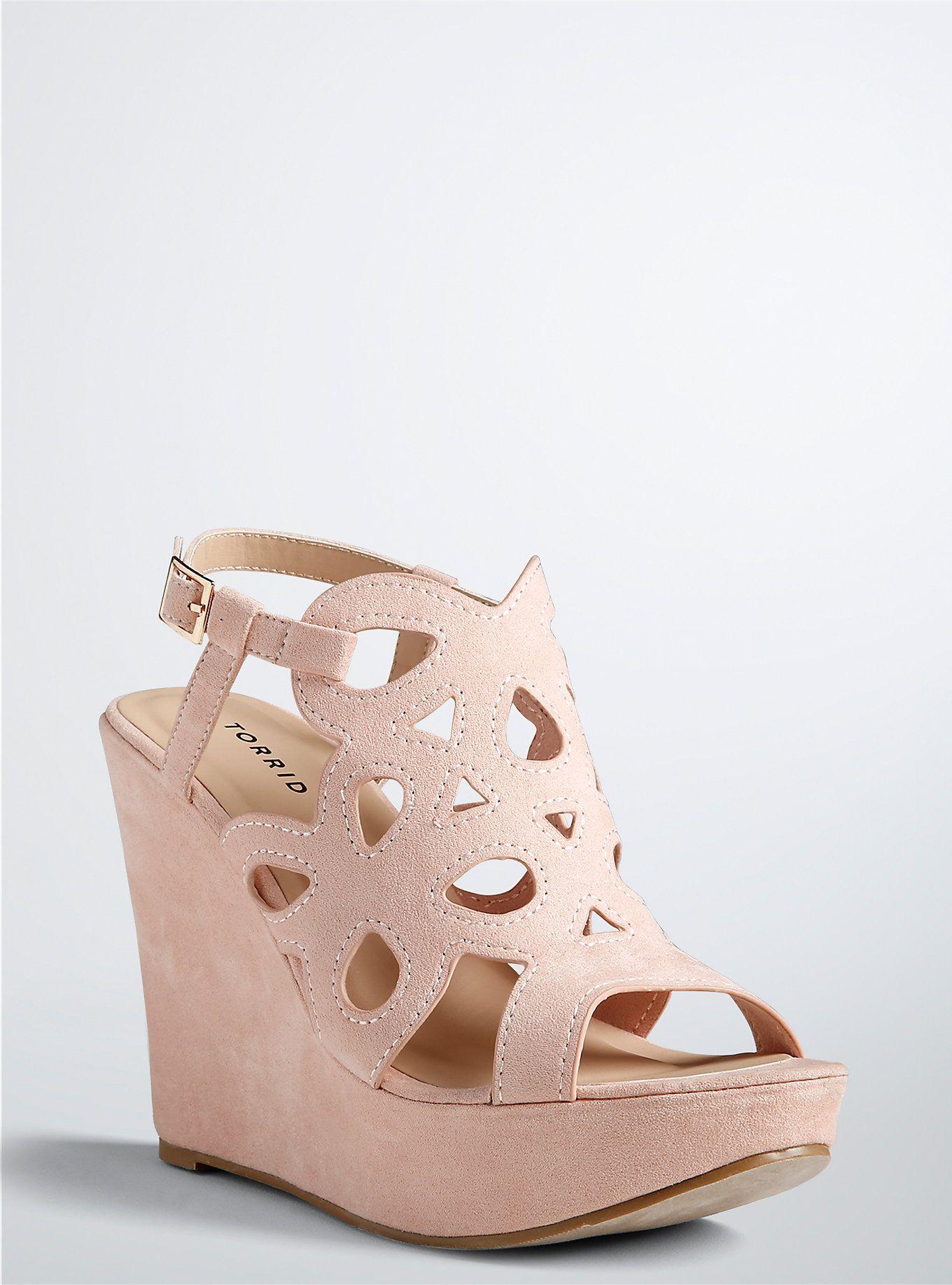 1bbaf641c6 Scallop Platform Wedges (Wide Width) | Gifts | Wedge wedding shoes ...