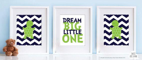 Baby Boy Nursery Art for Boys Room Decor Turtle by SweetLittleBarn, $39.99