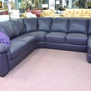 Pin By Shonnie On Ideas In 2020 Leather Couch Sectional Blue