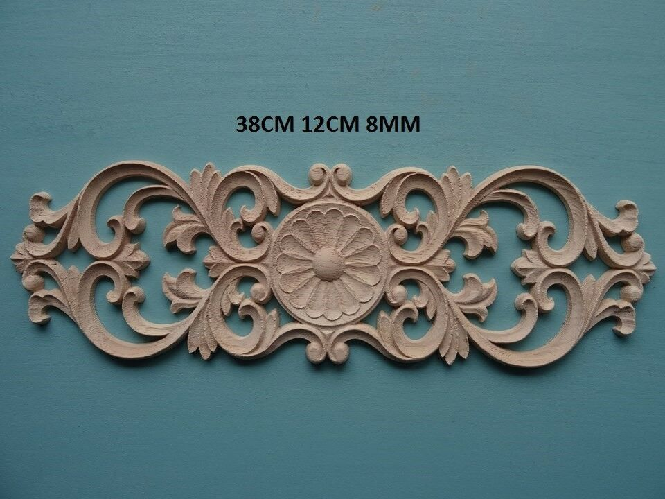 Decorative wooden plume scroll appliques furniture mouldings onlay C627L