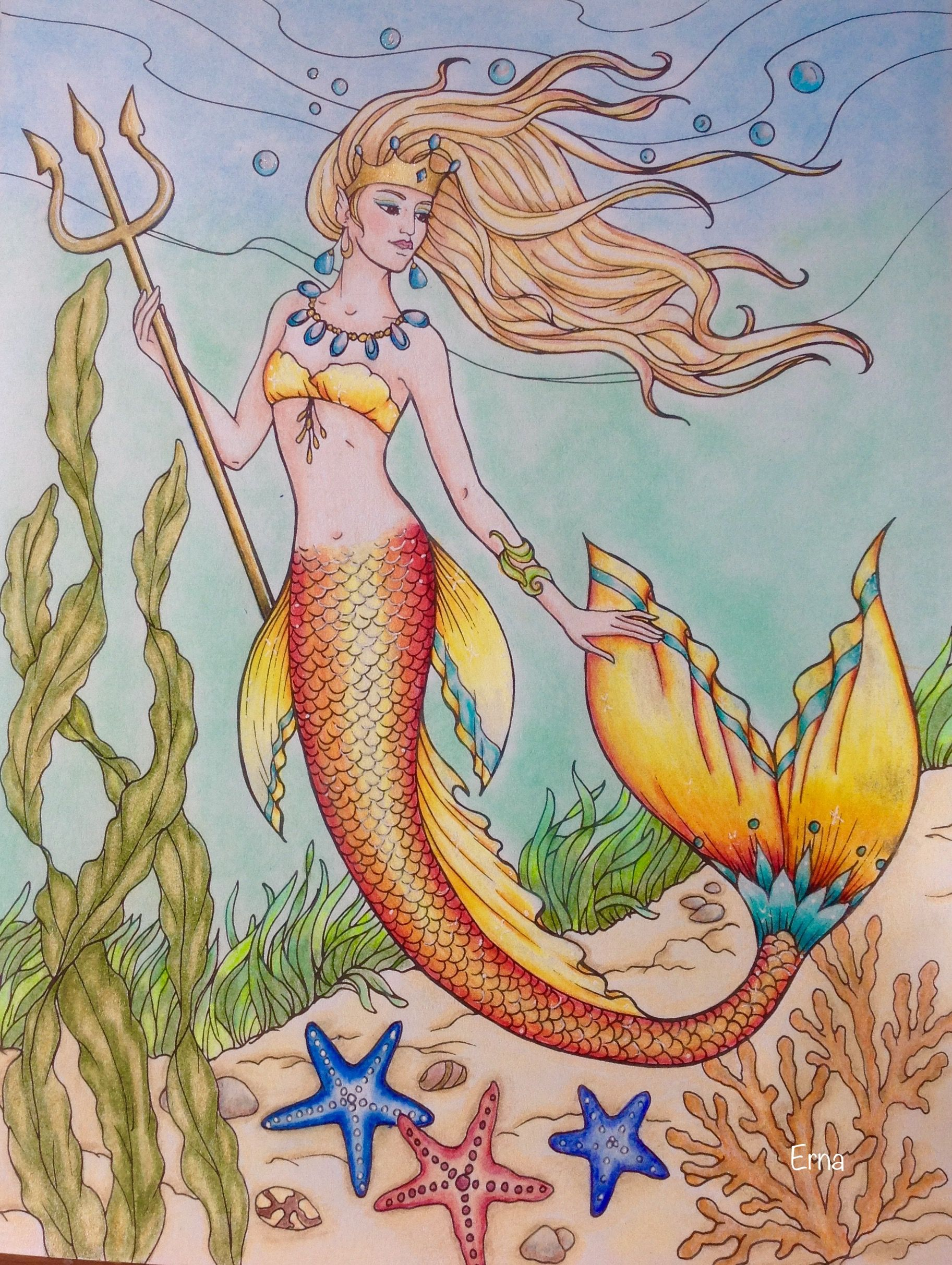 - Creative Haven Mermaid Coloring Book Mermaid Coloring Book