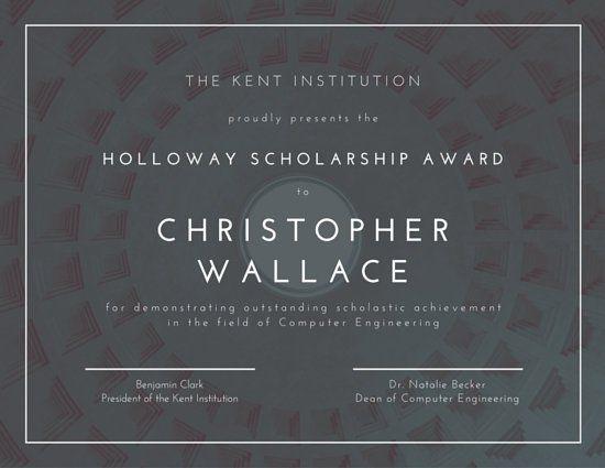 Scholarship Certificate  School Certificate