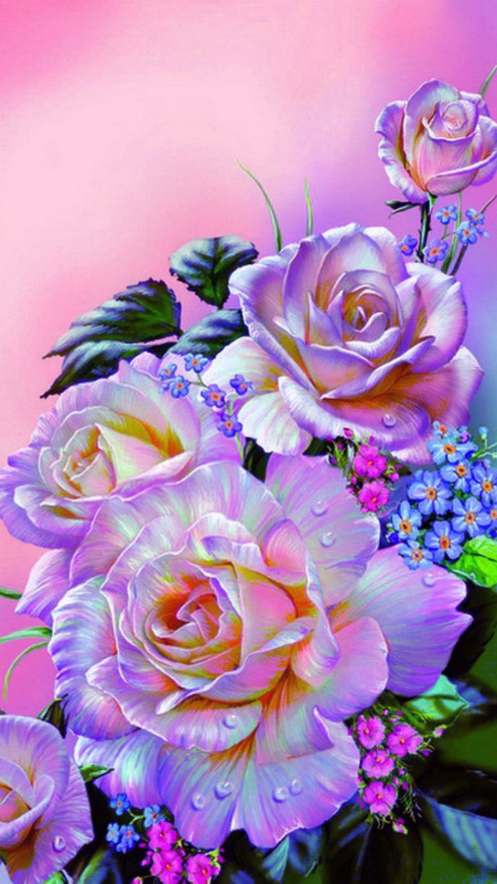 нежные розы-   Поделки из роз, Картины, Розы