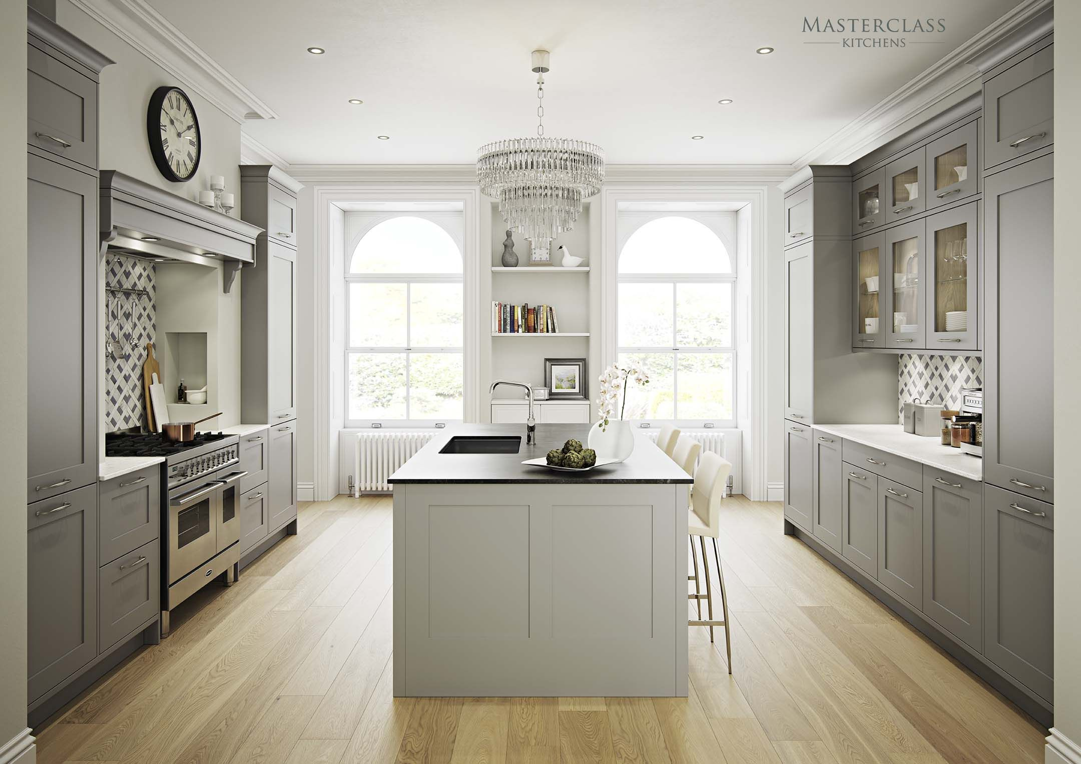 Shaker Kitchen Cabinets Marlborough In Light Grey And Dust Grey British Kitchen Design Traditional Kitchen Design Kitchen Design