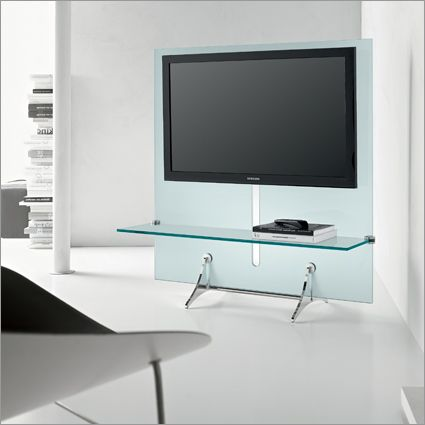 Tonelli Curtain Wall Glass Tv Unit 1200mm By Marco Gaudenzi Glass Tv Stand Glass Tv Unit Tv Wall
