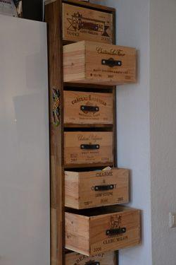 Weinregal bauen aus Holz | weinkisten | Pinterest | Weinregale ... | {Küchenmöbel selber bauen 19}