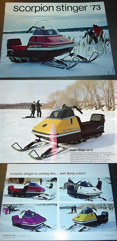 Other Snowmobiling 4847 Vintage 1973 Scorpion Stinger Snowmobile