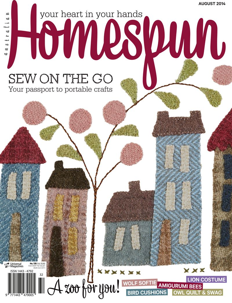 Australian Homespun magazine August 2014 issue