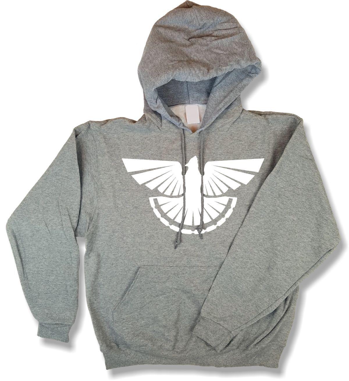 """Thunder Grouse"" Profile Upland Hunting Oxford Oxford Gray Hooded Sweatshirt"