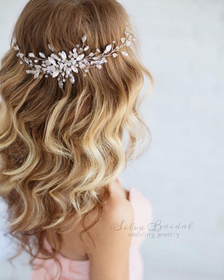 Wedding Hair Accessories Flower Girl Tiara Gold and Feather Bridal Tiara Ballet inspired Bride Tiaras Bride Accesories -Ballet Crown
