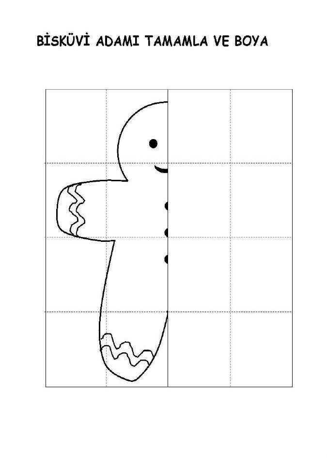 Bandırmanın öğretmen öyküsü Resmi Tamamla Simetri çalışması