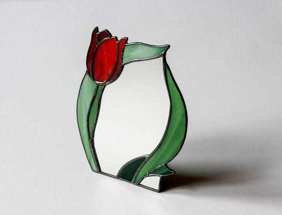 Photo of Artikel ähnlich wie Standspiegel mit Buntglasrahmen, Tulpenblüten-Spiegel, Spiegel Cheval Glass Imager Kosmetikspiegel Schminkspiegel Dekorativ auf Etsy