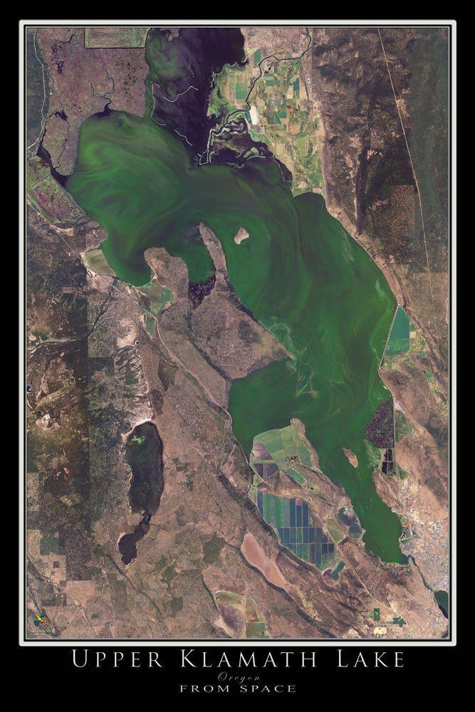 Upper Klamath Lake Oregon From Space Satellite