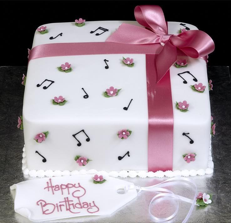 Musician's Happy Birthday cake