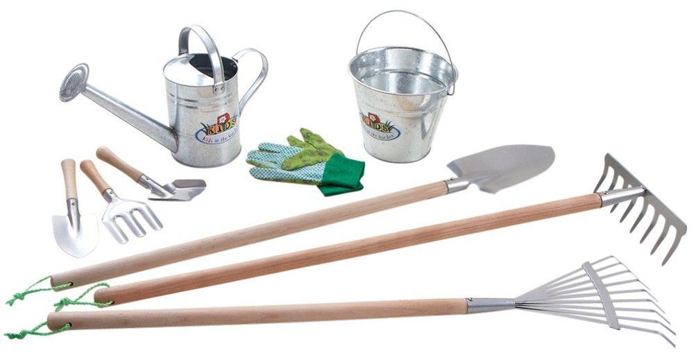 kit 9 outils de jardinage pour enfant sur jardindeco a. Black Bedroom Furniture Sets. Home Design Ideas
