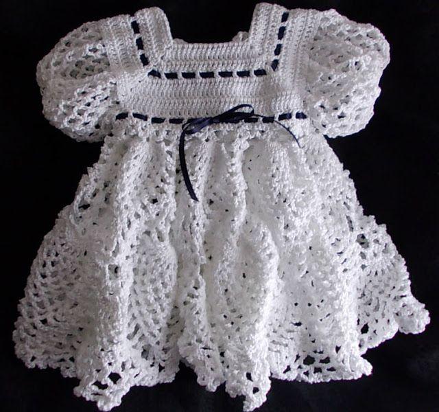 Crochet - Baby\'s Heirloom Wardrobe - Graceful Gown | Silvery Moon ...