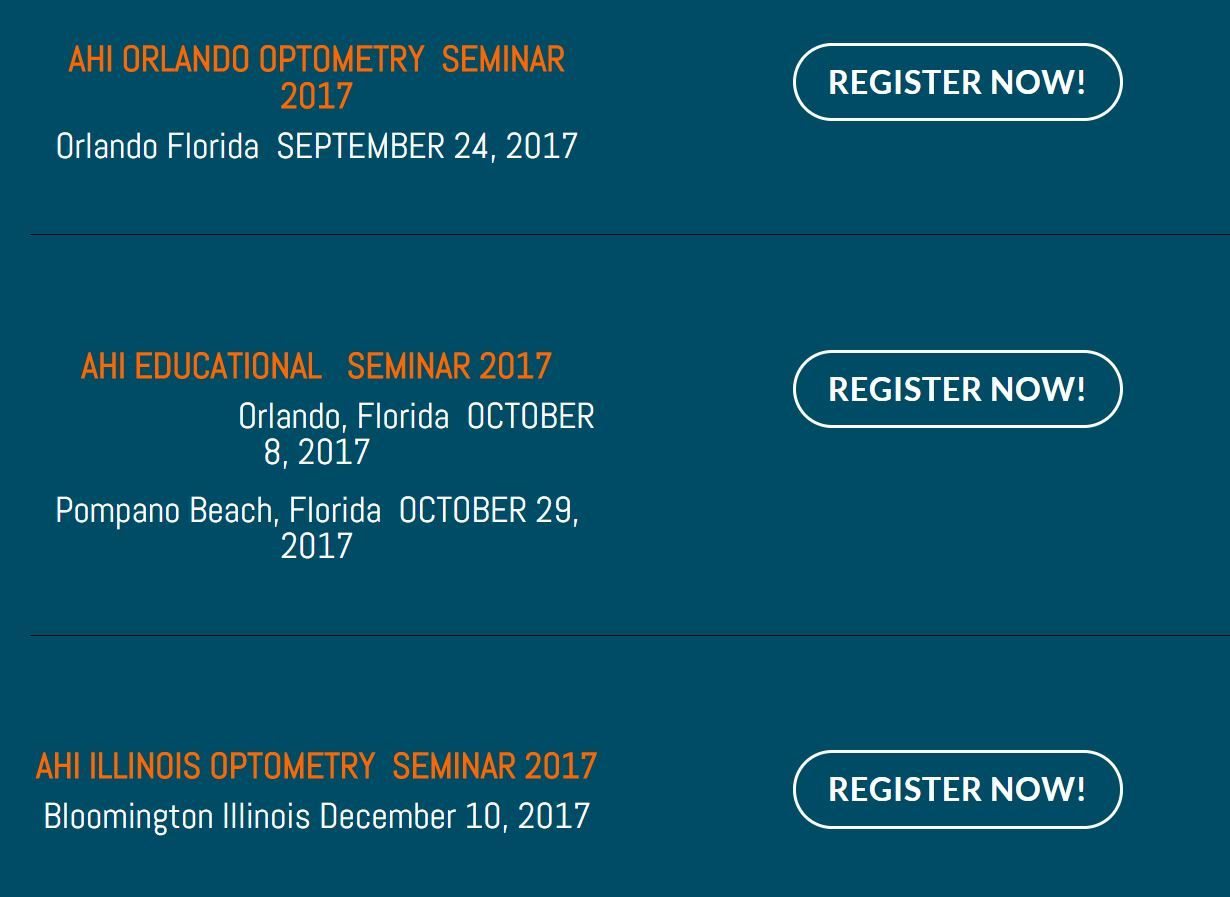 Register For Our Optometry Seminars In Florida And In Chicago Www