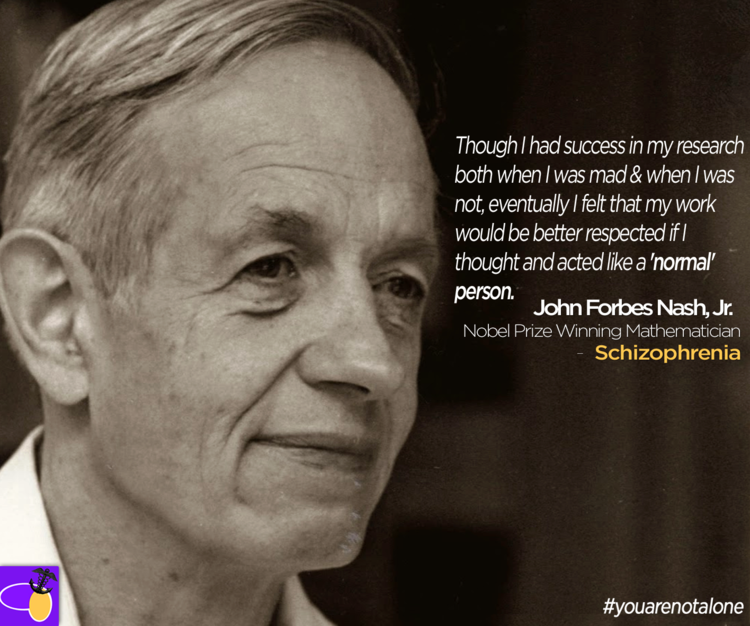 john-nash-schizophrenia | You Are Not Alone | John nash, Beautiful