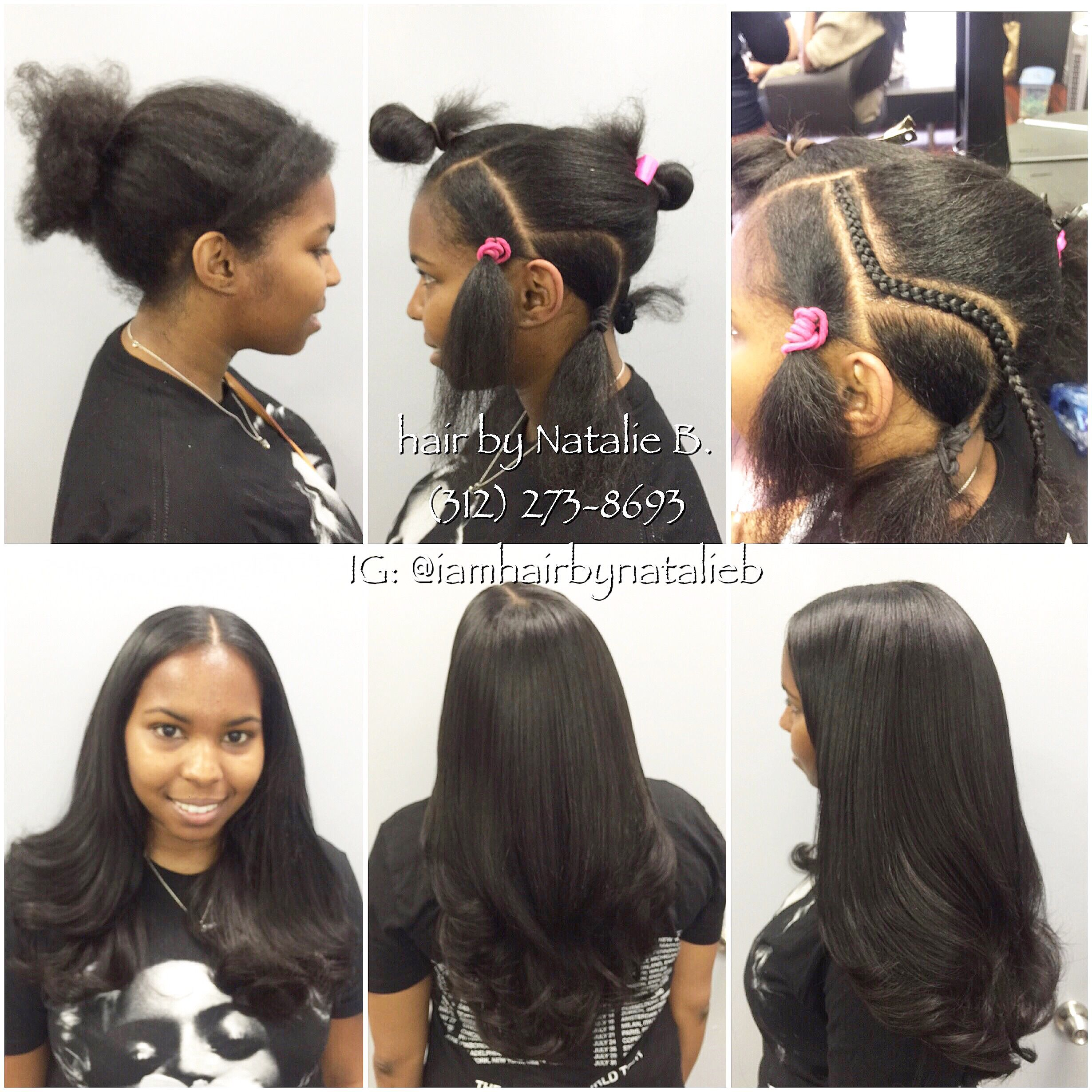 Now THIS is a sew in PERFECT PONY SEW IN HAIR WEAVE by Natalie B
