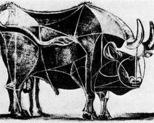 pablo picasso___bull plate iv 1945