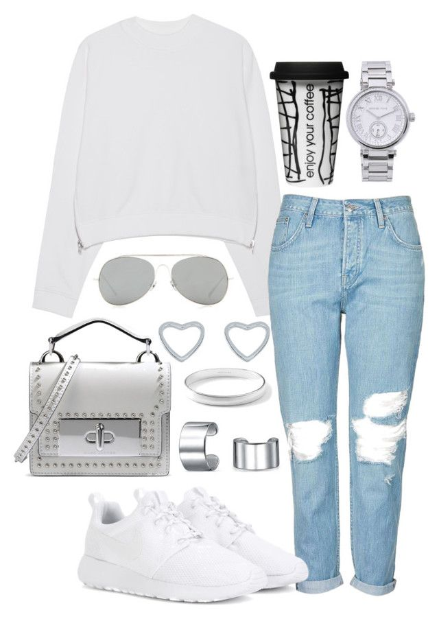"""""""144"""" by biancamarie17 on Polyvore featuring Acne Studios, Topshop, NIKE, Marc Jacobs, Bling Jewelry, New Look, Ippolita, Dot & Bo and MICHAEL Michael Kors"""