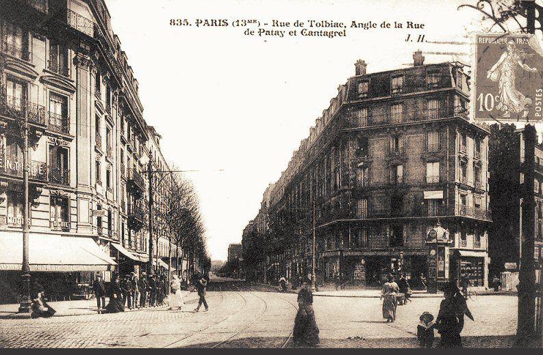 rue de tolbiac paris 13 me france pinterest banlieue paris photo et photos anciennes. Black Bedroom Furniture Sets. Home Design Ideas