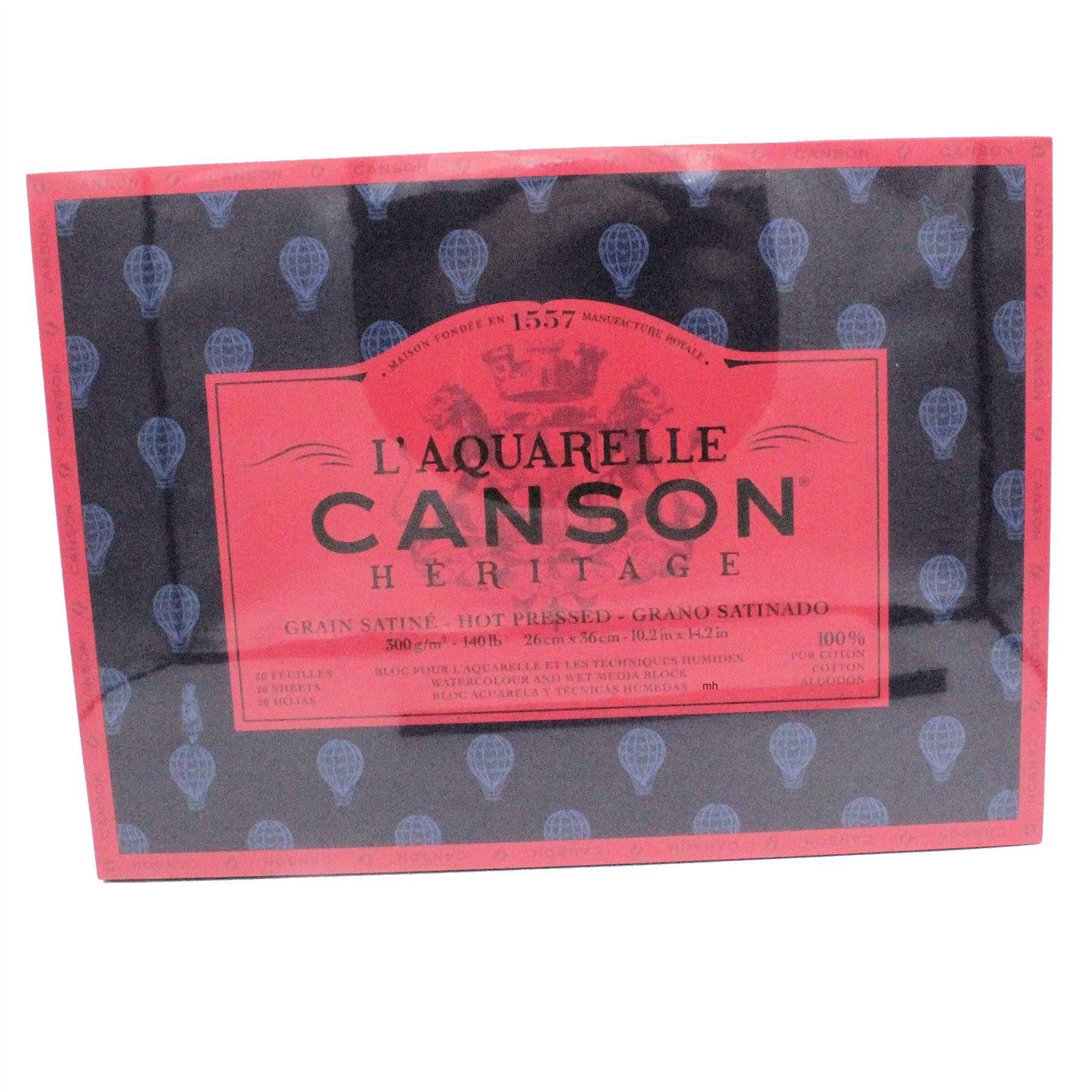 Canson L Aquarelle Heritage Block Hot Press Watercolour Paper