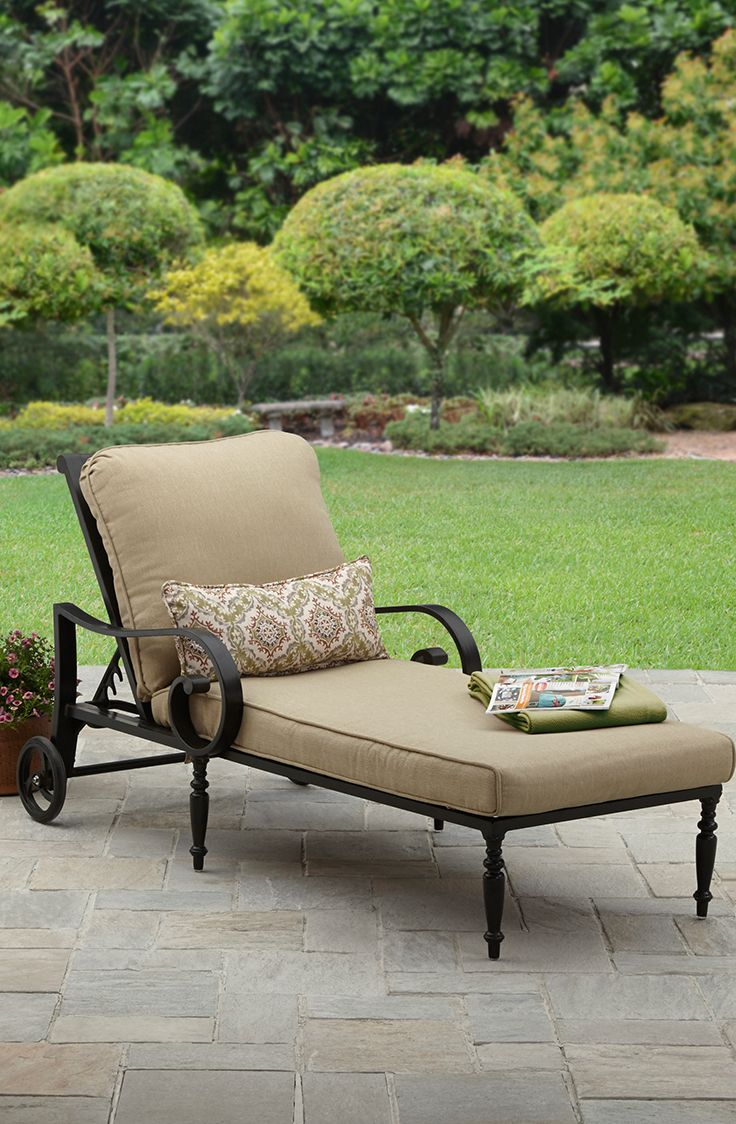 better homes and gardens englewood heights ii aluminum chaise