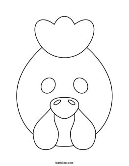Printable Hen Mask Cute Coloring Pages Animal Masks For Kids Animal Mask Templates
