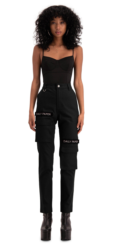 7e5e46a35b8 Daily Paper - Cargo Pants Black