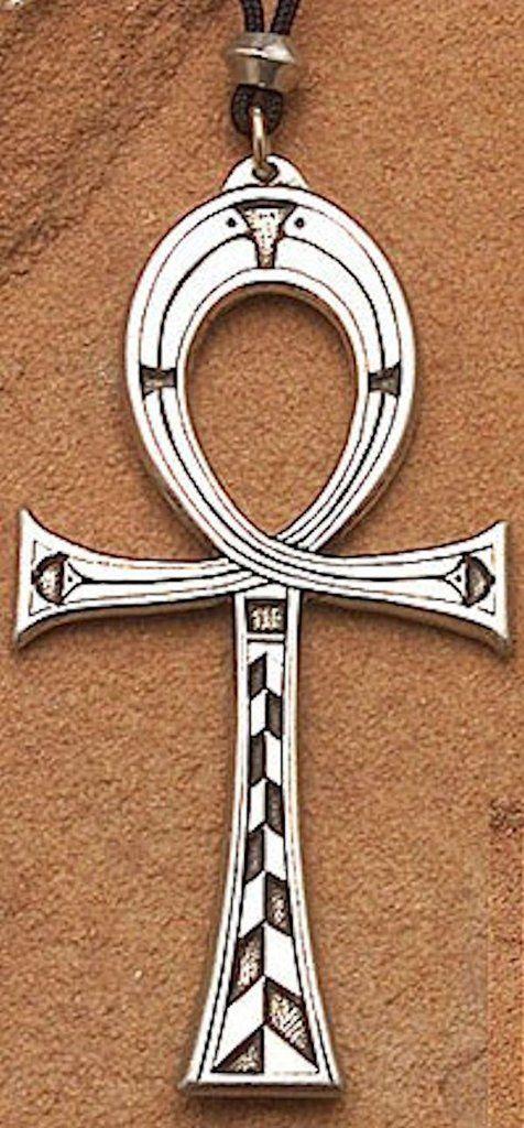 Large ANKH Pendant | Pewter ISIS & OSIRIS Necklace | Egyptian Pagan Jewelry