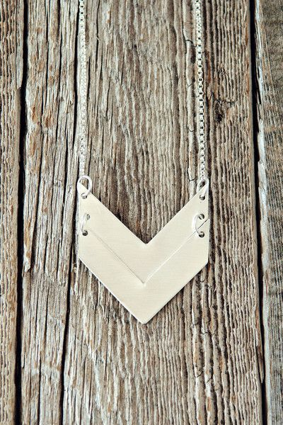 Double chevron necklace by Charmed Collections
