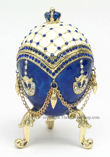 Faberge Wedding Ring Egg Box - Reminiscent of the style of Peter Carl Faberge, warranted court jeweler to the Russian Tsar and Russian nobility.