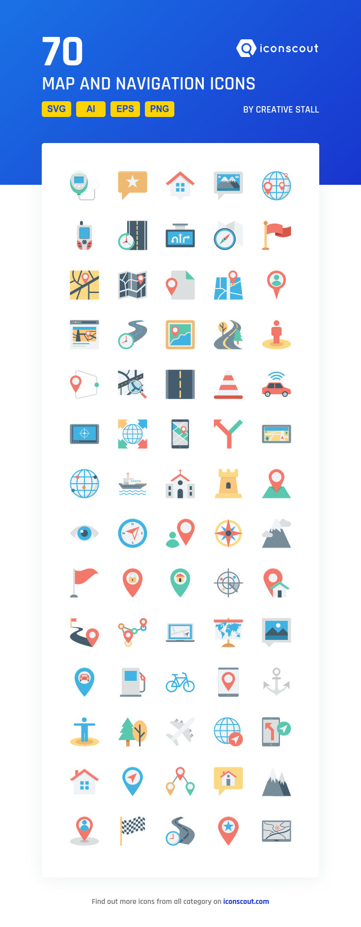 Download Map And Navigation Icon pack Available in SVG