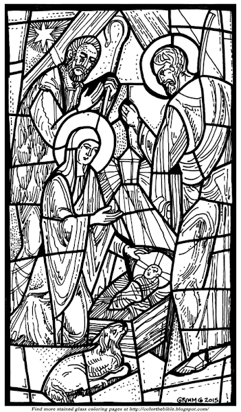 Christmas Nativity Stained Glass Coloring Pages Colorings Net Stained Glass Christmas Christmas Art For Kids Christmas Nativity Scene