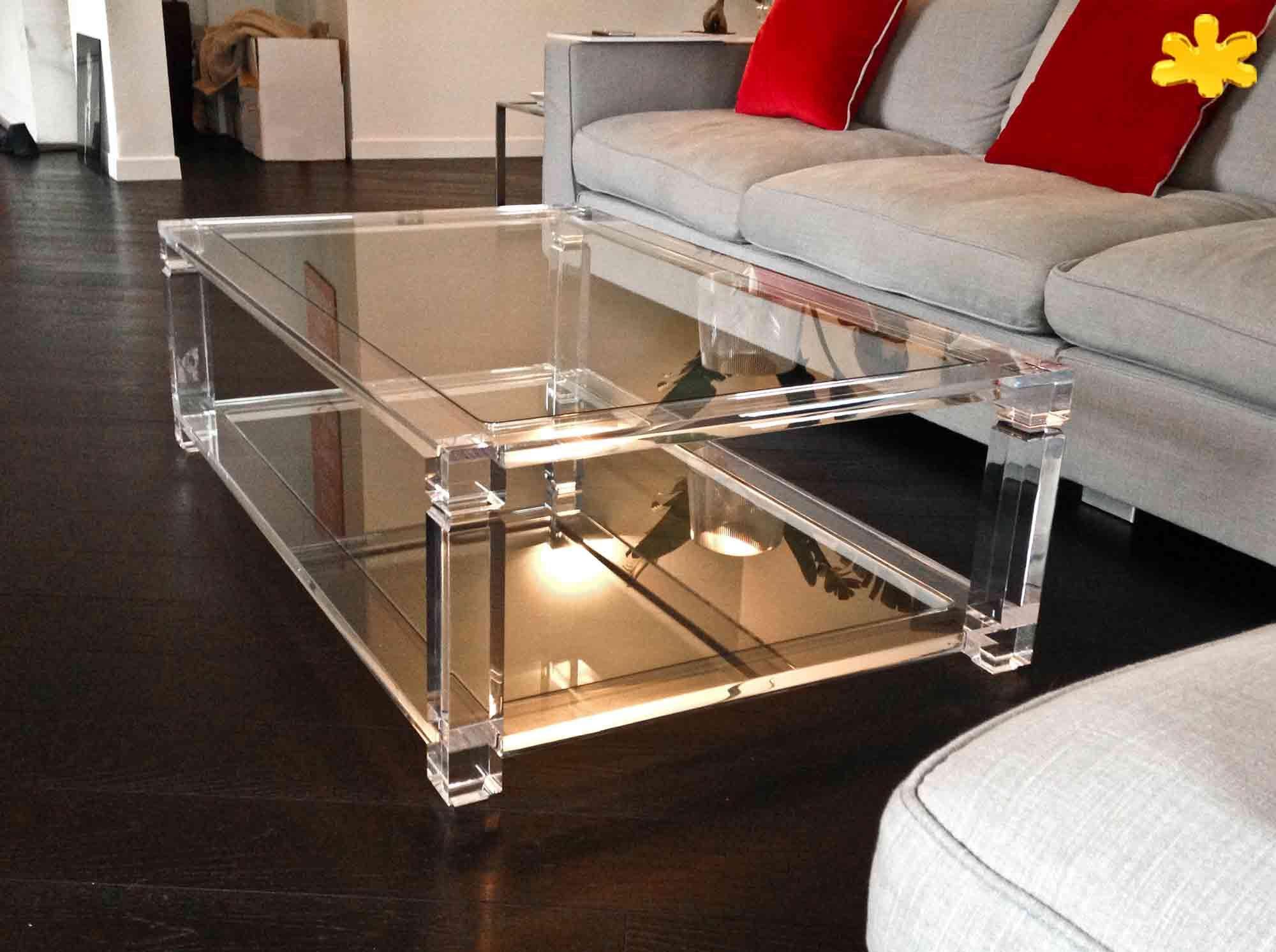 Lucite acrylic coffe table tavolini da salotto in for Tavolo trasparente