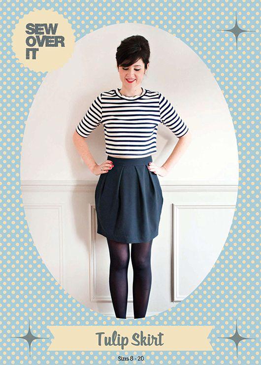 New PDF sewing pattern from Sew Over It: Tulip Skirt | Nähen, Nähen ...