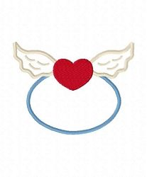 Angel Heart Applique - 3 Sizes! | Angels | Machine Embroidery Designs | SWAKembroidery.com