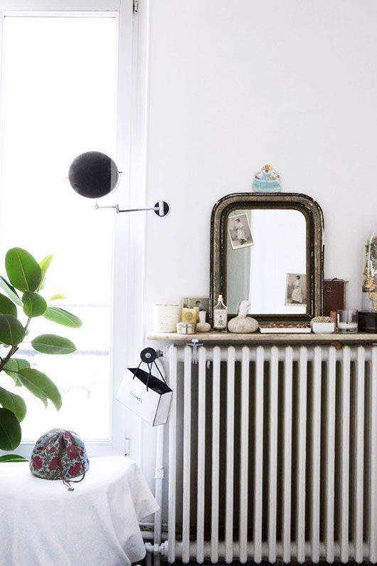 Ideas diy para decorar los radiadores de la calefacci n casa deco pinterest radiator shelf - Ideas para cubrir radiadores ...