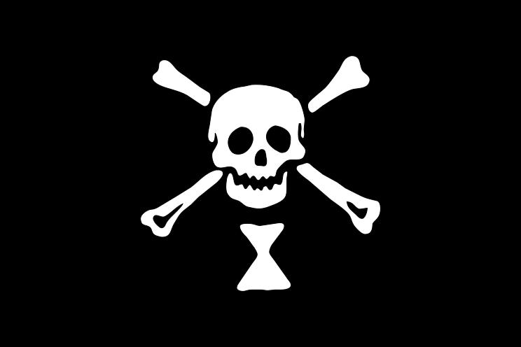 3/'x5/' Pirate Republic Jolly Roger Flag Skull No Quarters Given Crossbones 3X5