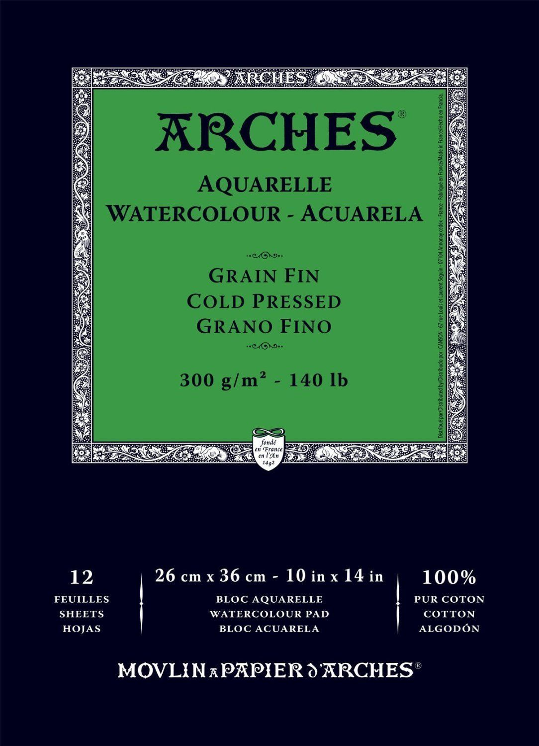 Amazon Com Arches Watercolor Pad Cold Press 10x14 Watercolor