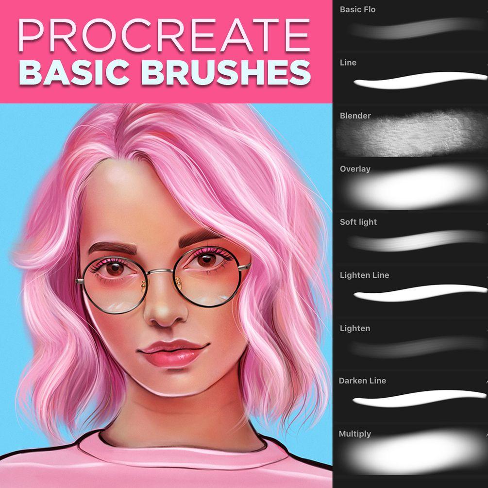 Art With Flo Basic Brush Set For Procreate In 2020 Basic Brush Set Procreate Brushes Digital Painting