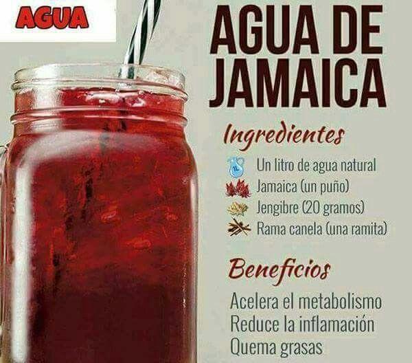 Como bajar de peso tomando agua de jamaica
