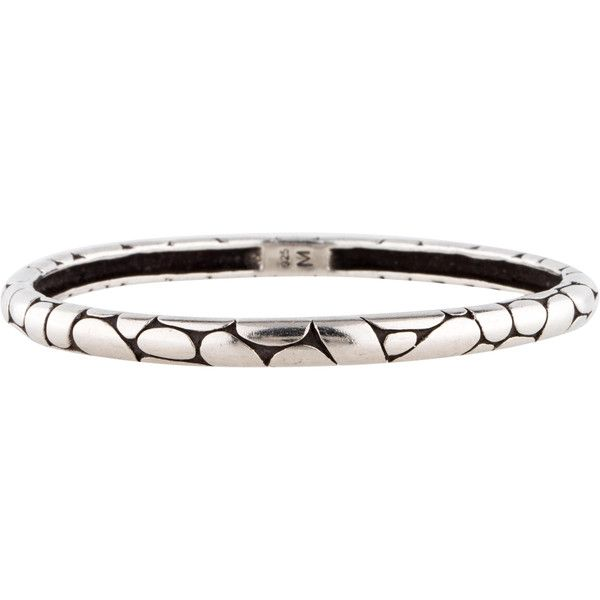 Pre-owned John Hardy Kali Bangle ($225) ❤ liked on Polyvore featuring jewelry, bracelets, sterling silver bracelet bangle, bracelets & bangles, hinged bracelet, sterling silver bangles and sterling silver hinged bangle