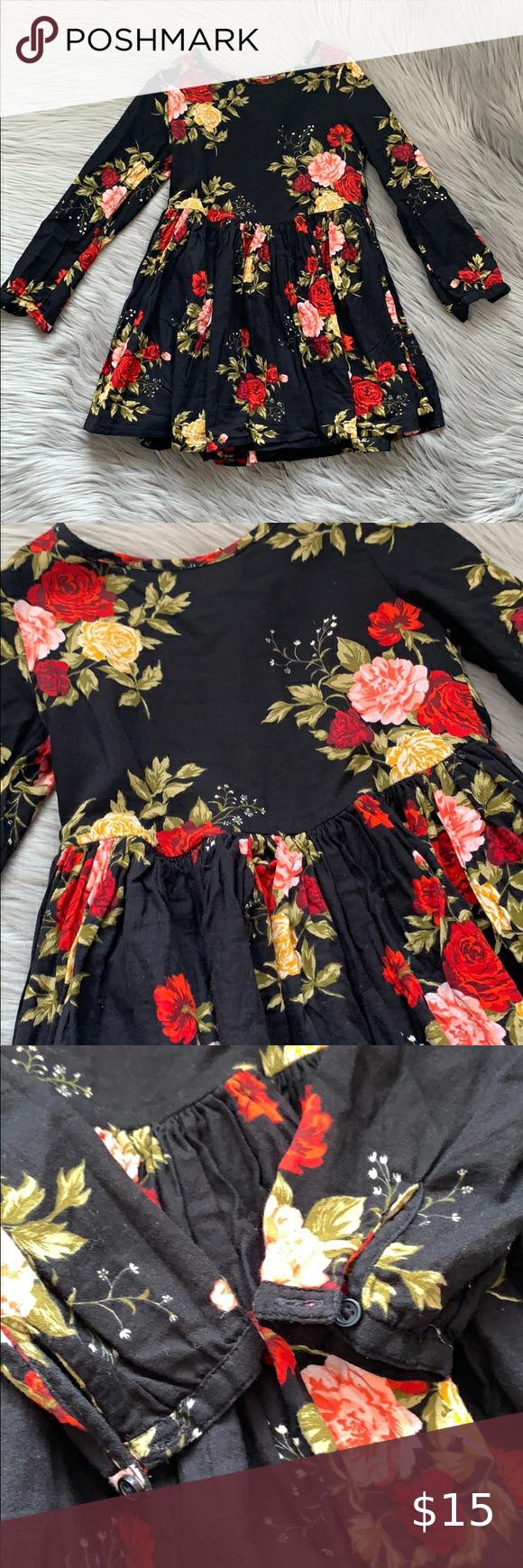 Old Navy Floral Dress Girls 5t Navy Floral Dress Clothes Design Girls Dresses [ 1740 x 580 Pixel ]