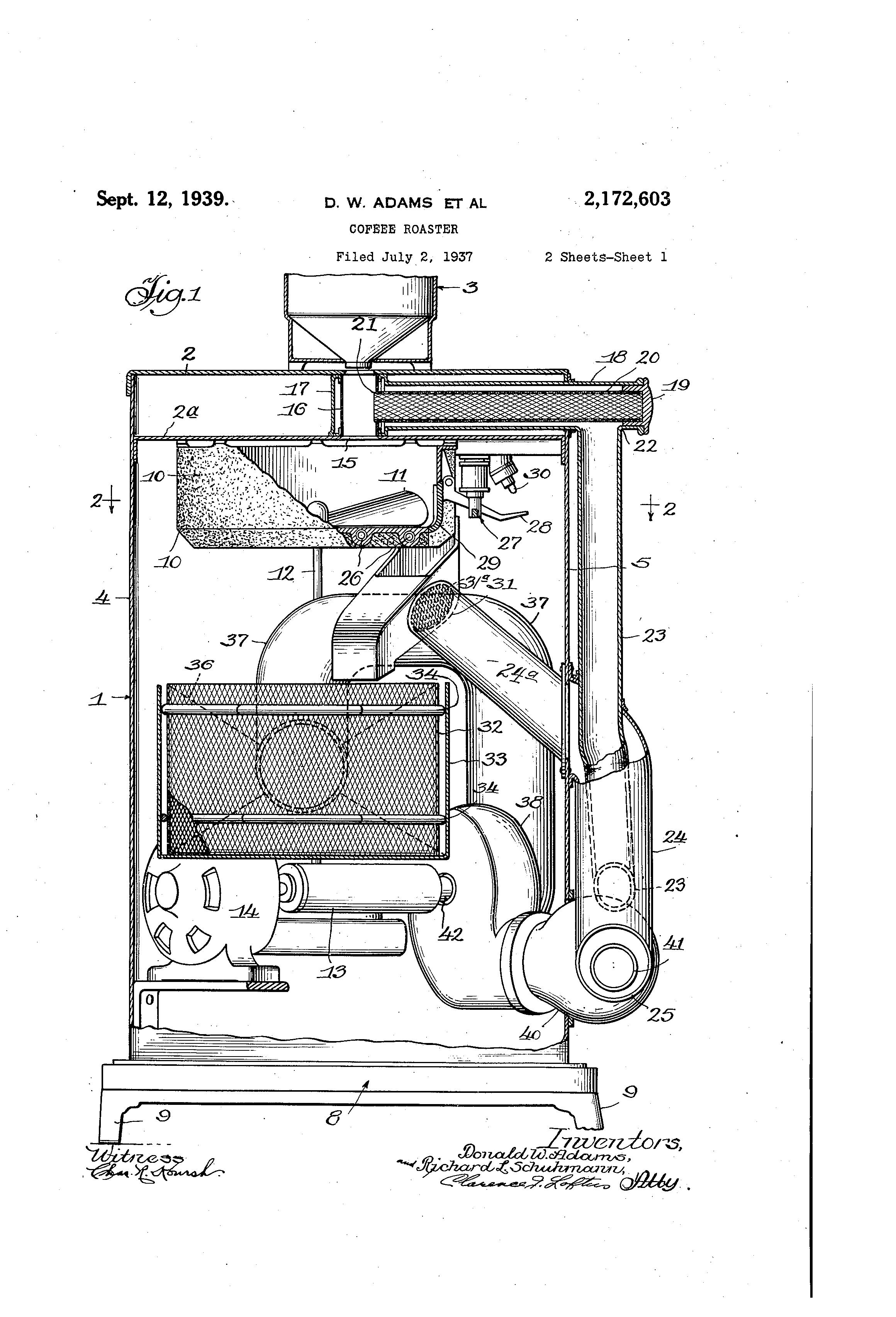 Patent US2172603 - Coffee roaster - Google Patents
