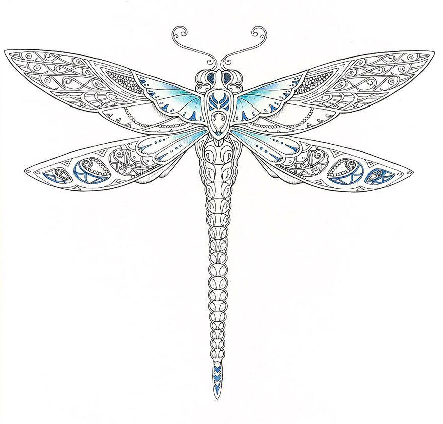 mandalas para colorear libelulas