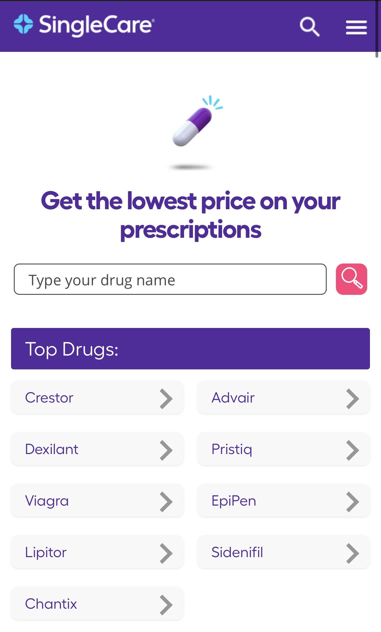 Compare Costs Of Any Medication With Single Care In 2020 Medical Pharmacist Saving Money