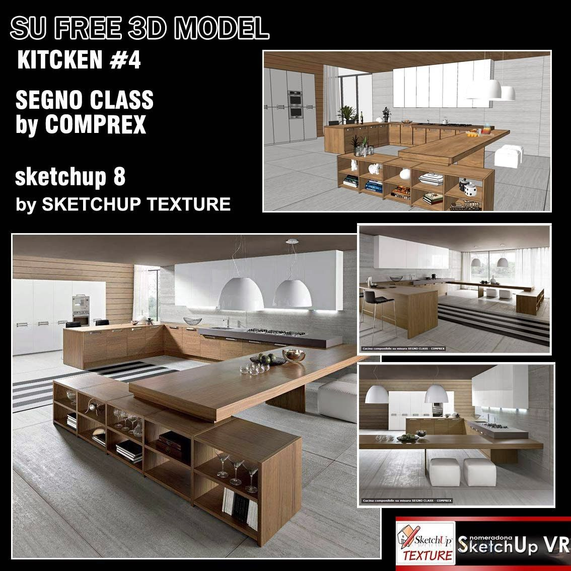 Sketchup Texture Sketchup Model Kitchen Design Kitchen Design Cad Sketchup  Interior Design Cad