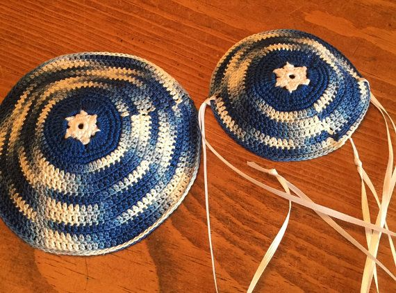 Father son kippah custom can be longer style gift party favor baby ...
